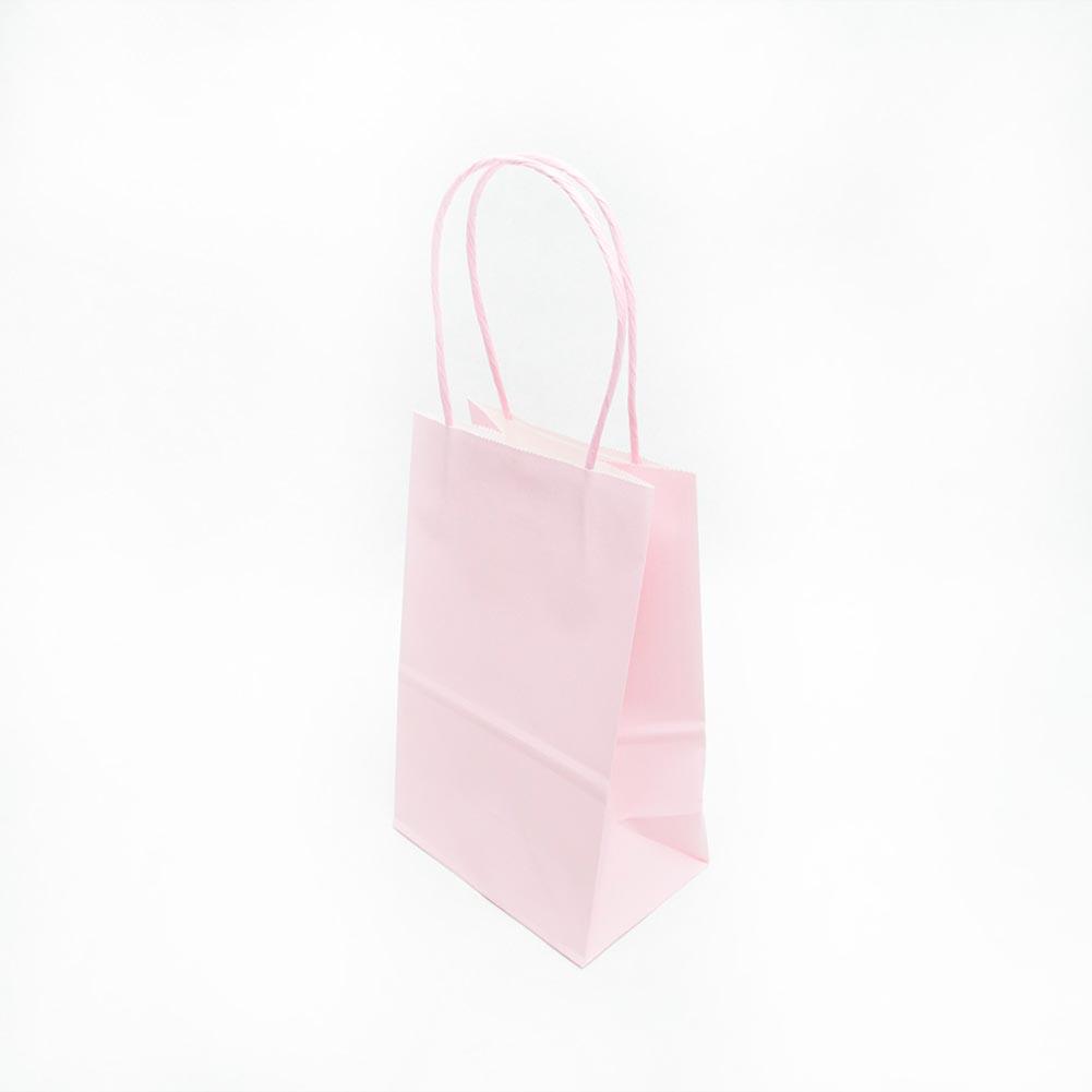 Small Light Pink Kraft Gift Bags