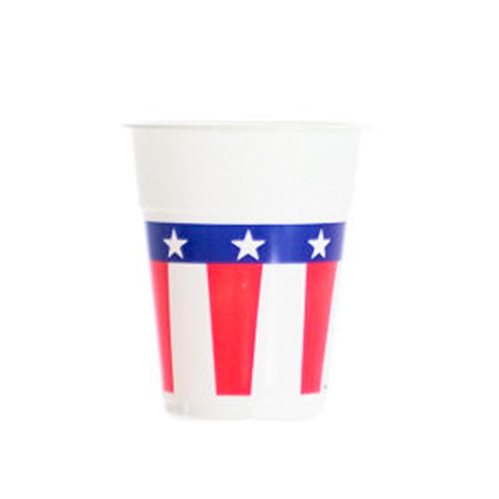 Plastic Patriotic Cups 146-090