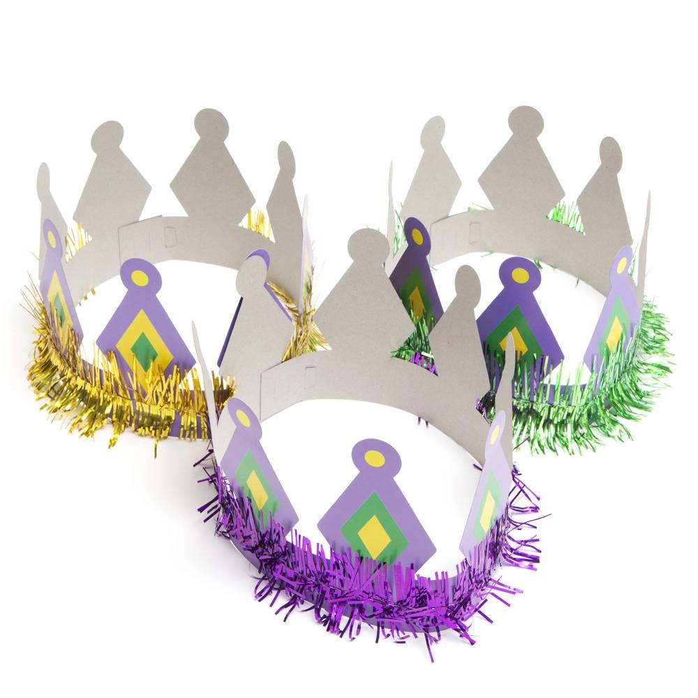 Paper Mardi Gras Crowns 146-1068