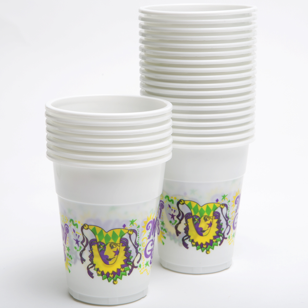 Mardi Gras 16 oz. Plastic Cups 146-1085