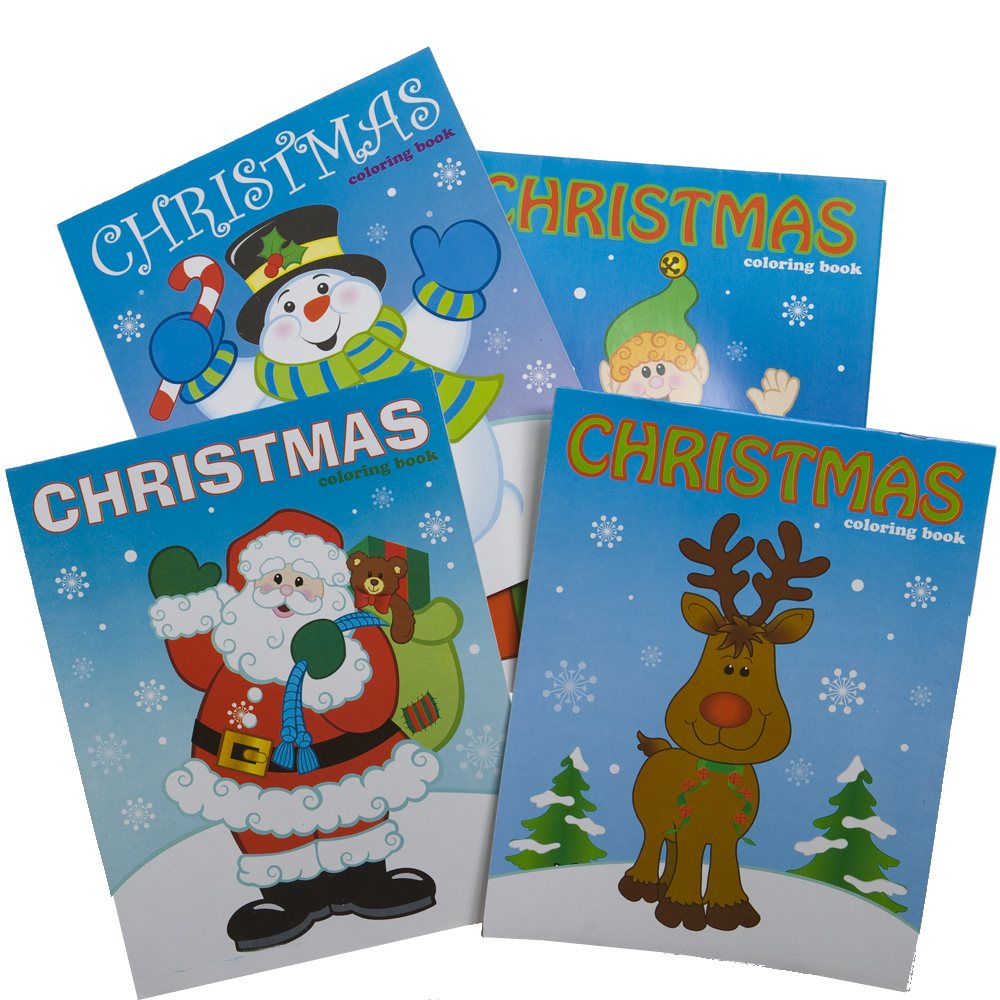 """'Tis the Season for Stocking Stuffers! The Christmas coloring book is a great way for spreading holiday cheer to all your party guests. 12 coloring books per package. 8"""" long and 10"""" wide. 12 page coloring book. Assorted styles. Spice up your Christmas party with unique Christmas party favors like these. Our stocking stuffers are ideal to use as party favor give-a-ways at your Christmas office party or any holiday event. We have the Christmas party supplies you need to make your party or event the talk of the season."""