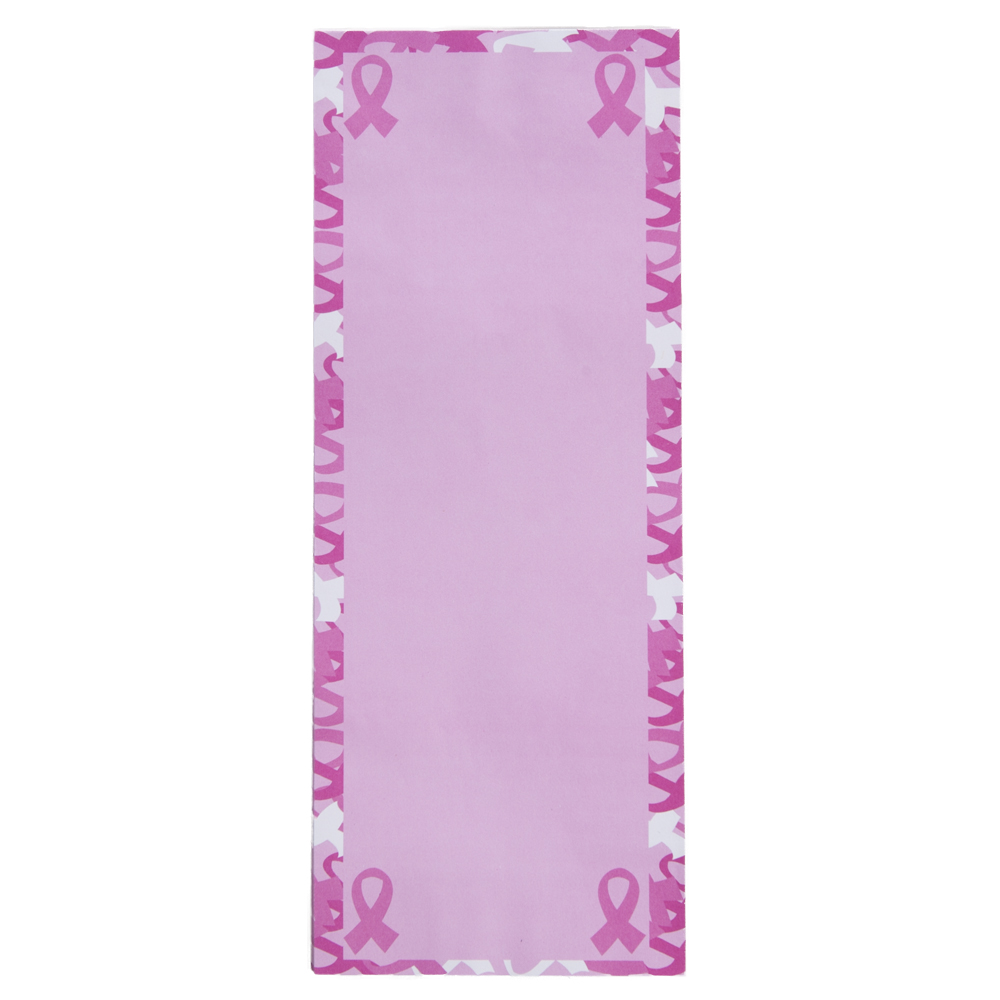 Pink Ribbon Magnetic Notepad