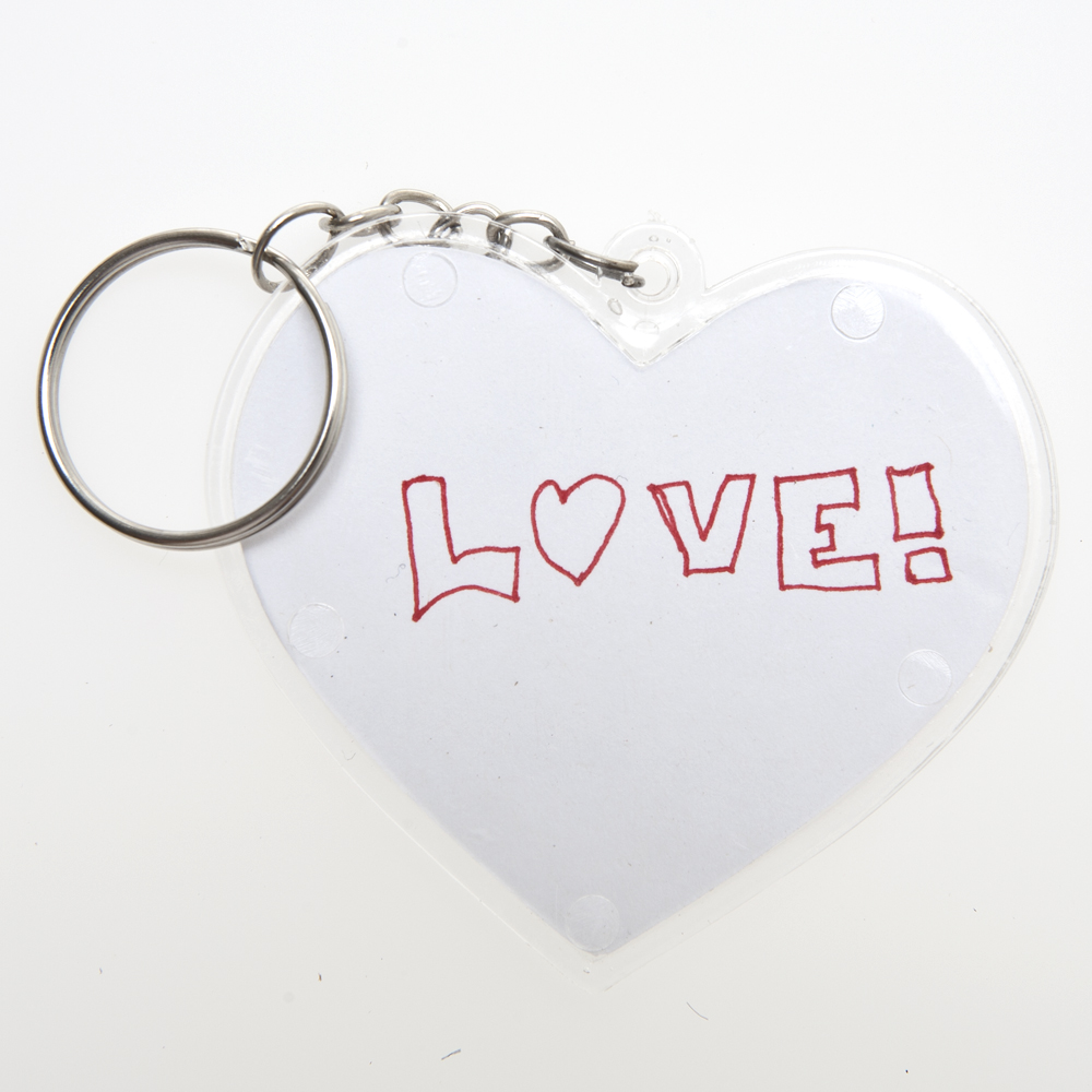 Design Your Own Heart Keychains 146-1621