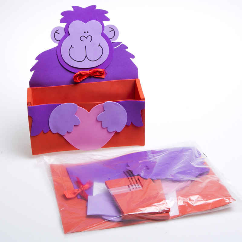 Valentine Gorilla Craft Card Boxes 146-1637