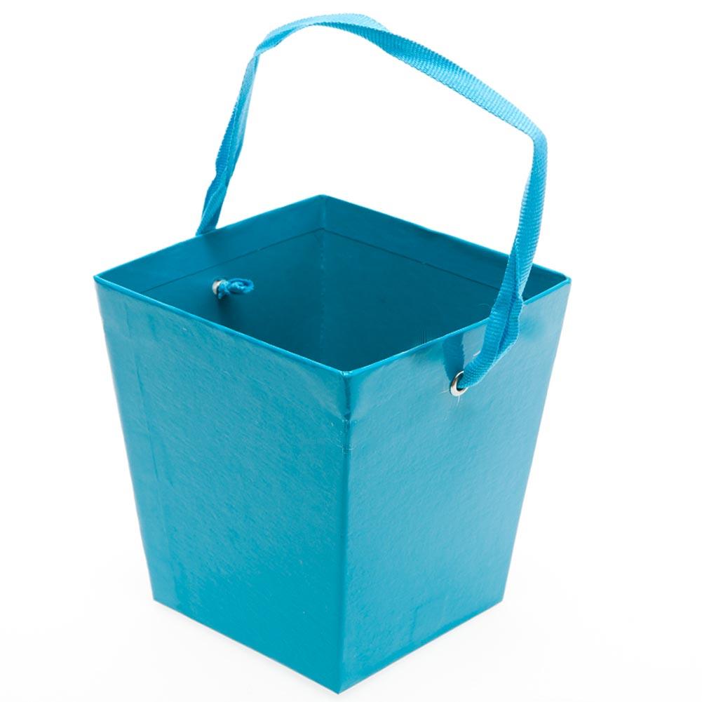 Turquoise Cardboard Buckets