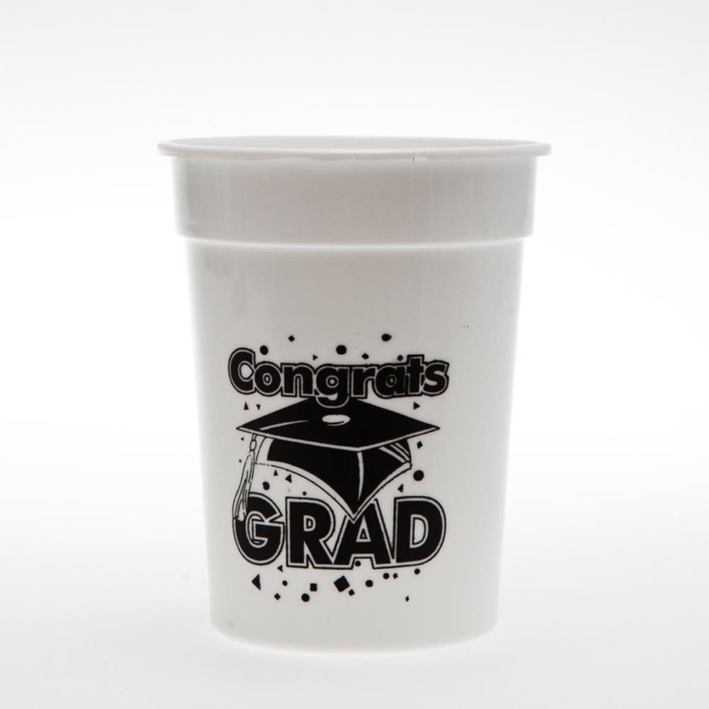 Congrats Grad 10 oz. Plastic Cups 146-1968
