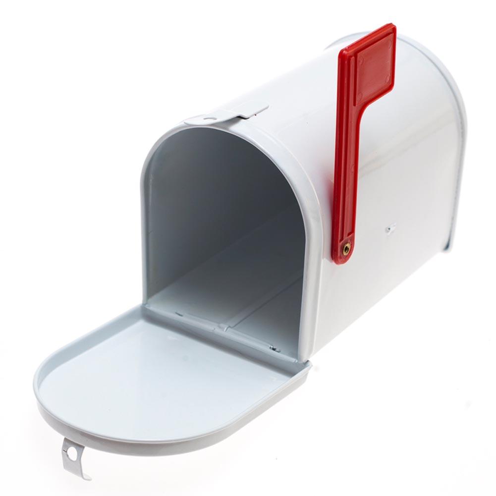 Mini White Tin Mailbox 146-1992