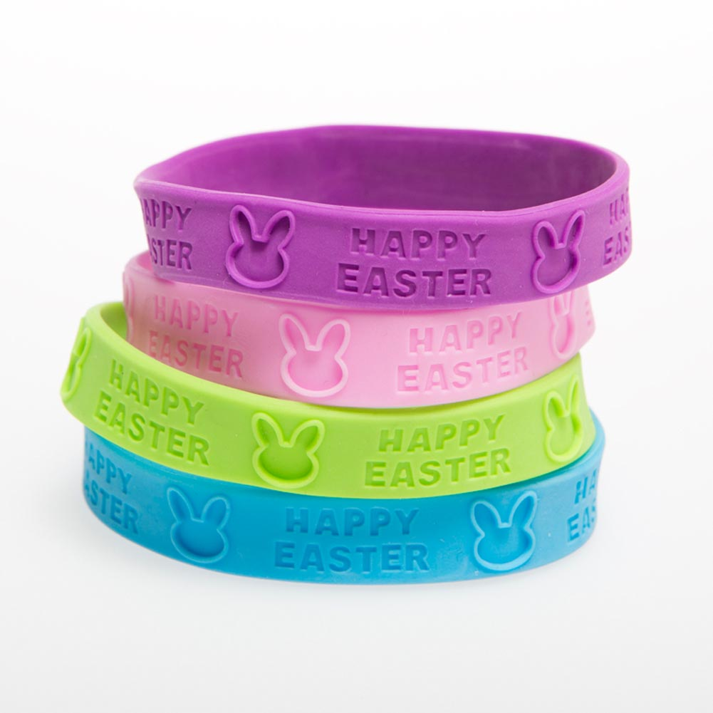 """""Happy Easter"""" Rubber Bracelets"" 146-2129"
