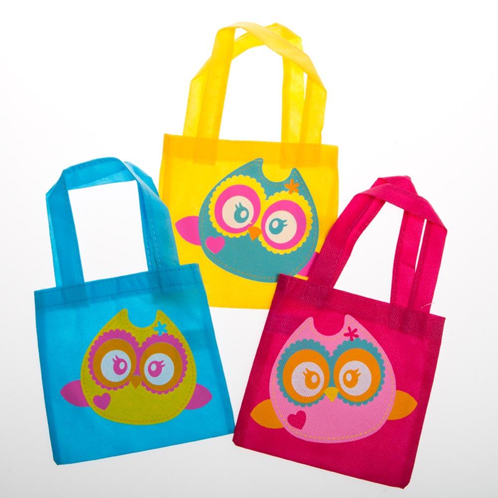 Mini Owl Tote Bags
