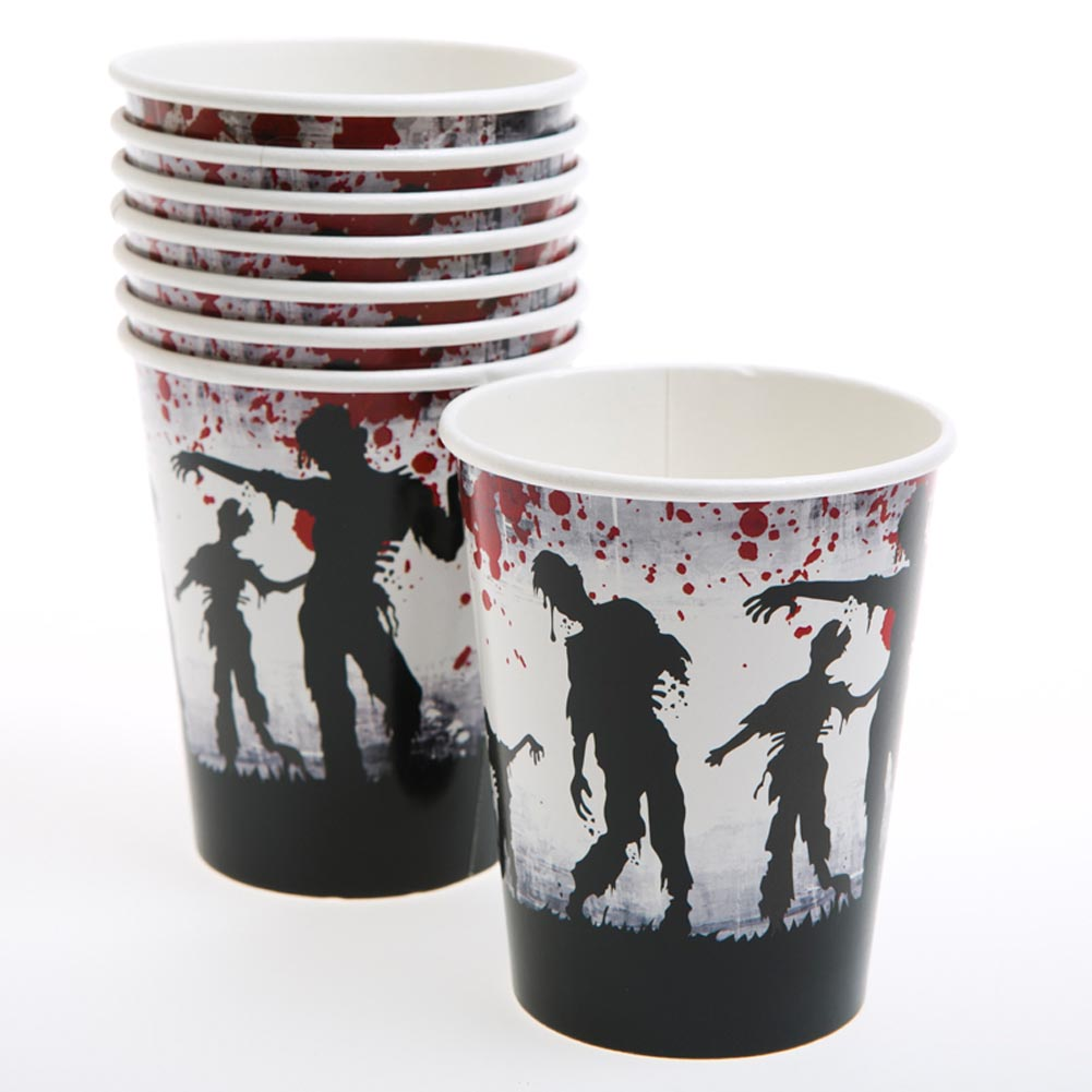 Zombie Bash Paper Party Cups, 9 oz., 8 per pkg. 146-2293