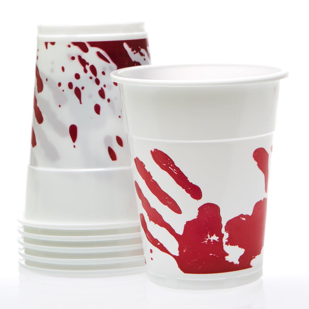 Bloody Halloween 16 oz. Plastic Cups 146-2448