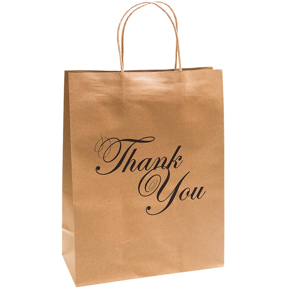 Large Thank You Kraft Gift Bags