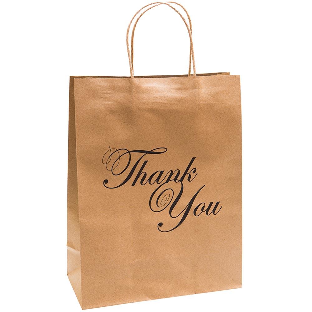 Large Thank You Kraft Gift Bags