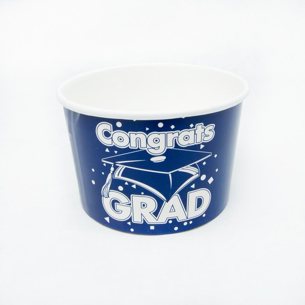 Blue Congrats Grad Snack Bowls 146-2594