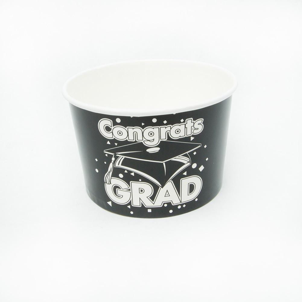 Black Congrats Grad Snack Bowls 146-2595