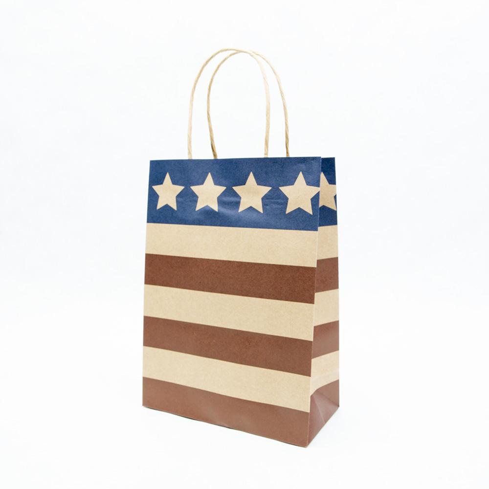Patriotic Kraft Gift Bags