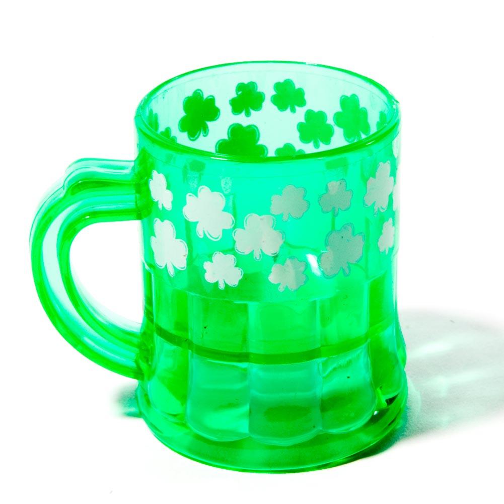 Mini Plastic Shamrock 1 oz. Mugs 146-284