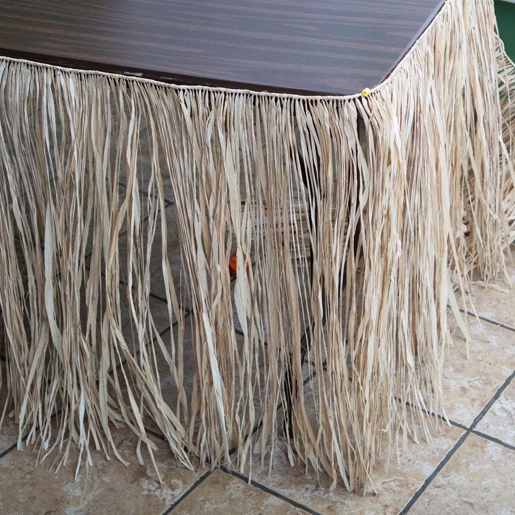 Deluxe Natural Raffia Table Skirt