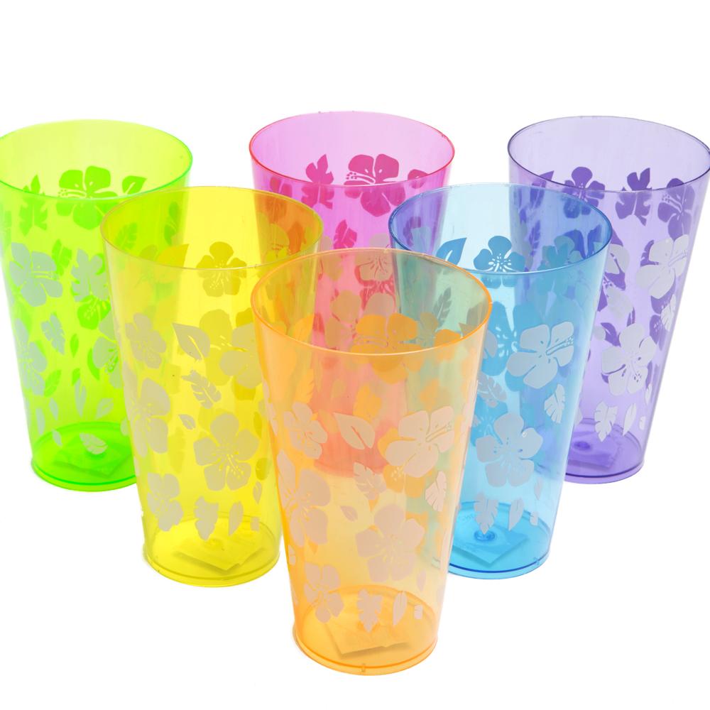 Deluxe Hibiscus 20 oz. Plastic Cup 146-675