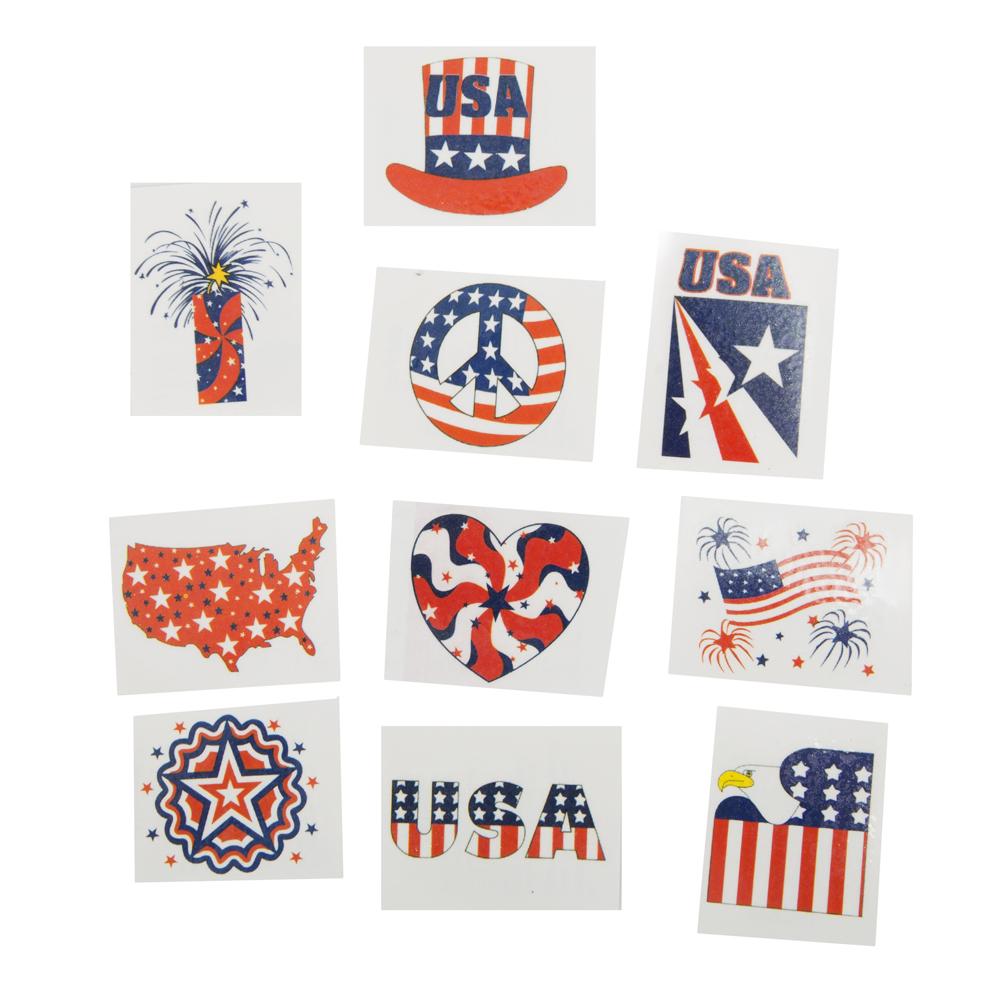 Glitter Patriotic Tattoos 146-683