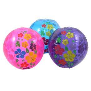 Hibiscus Luau Print Beachball