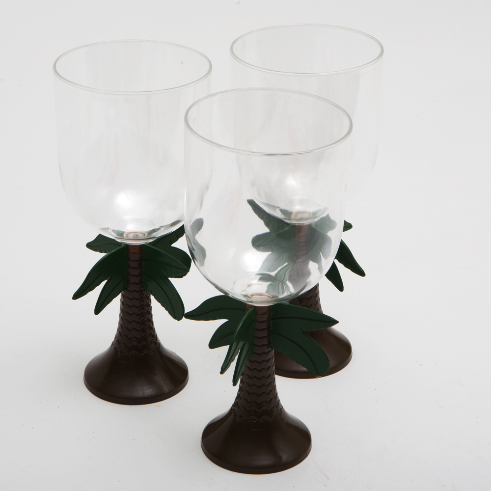 Palm Tree Stem 14 oz. Plastic Glass 146-993