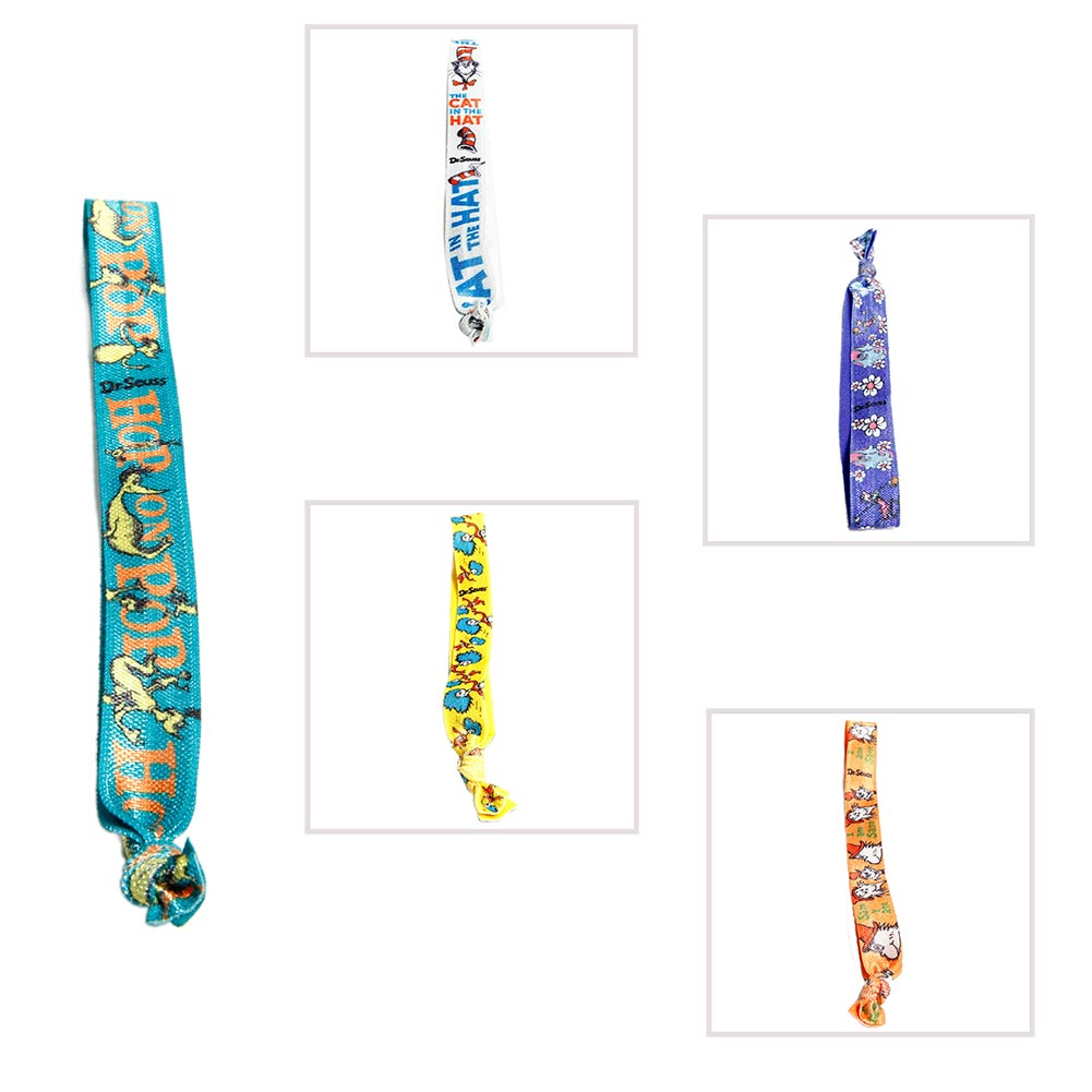 Fun With Dr. Seuss. Celebrate some of our all time favorite children's books with a Dr. Seuss' Stretchy Bookmark. Dr. Seuss bookmarkers are perfect favors for Read Across America gatherings, graduation parties, summer reading programs, and classroom events! 1 Dr. Seuss bookmark per package. Assorted patterns and colors. Use Dr. Seuss elastics for books, hair ties, or bracelets! Commemorate the works of Dr. Seuss with fantastic stationery, favors, gifts, and treats. Stock up on the Dr. Seuss party supplies you need to celebrate reading any time of the year!