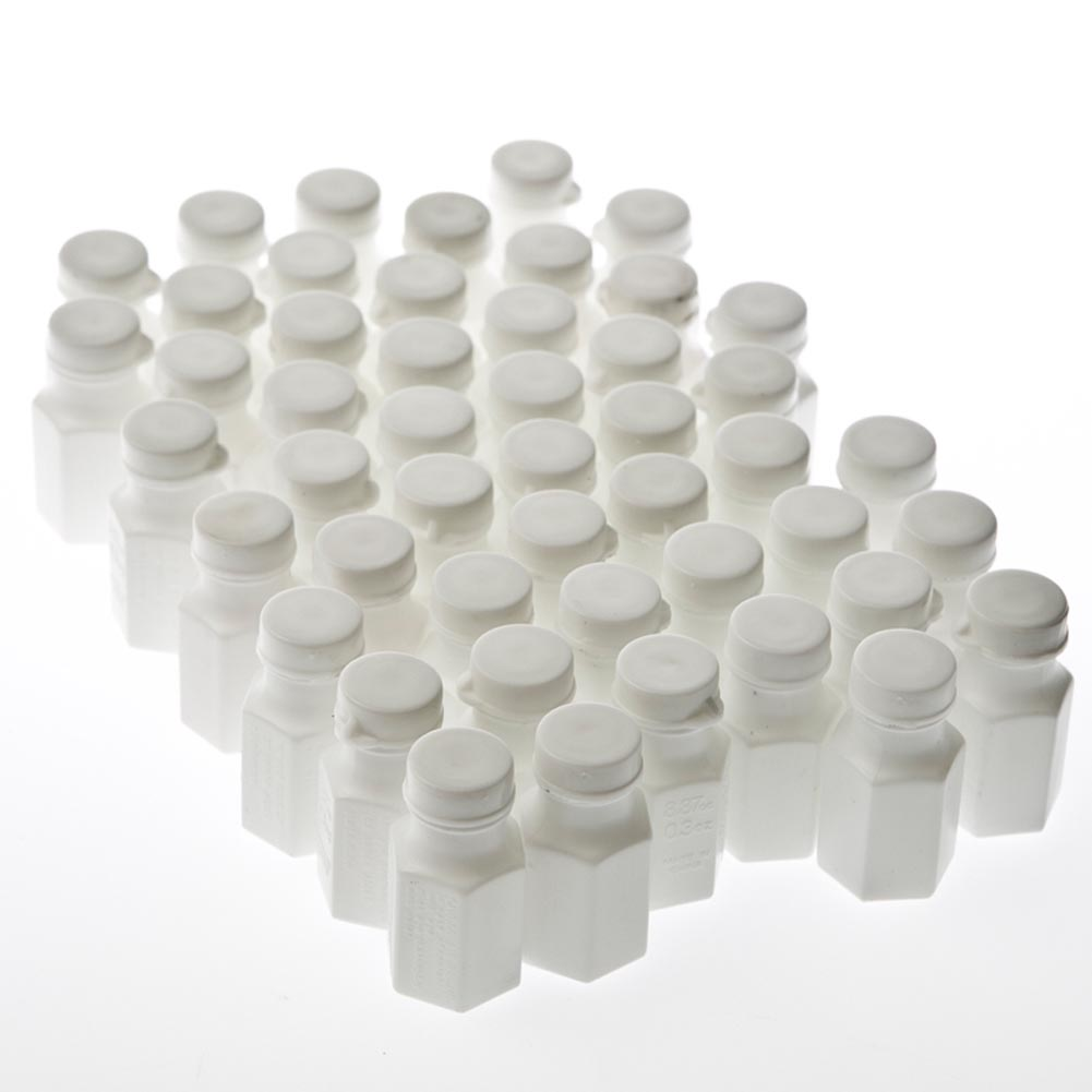 White Party Bubble Bottles, 48 per pkg.