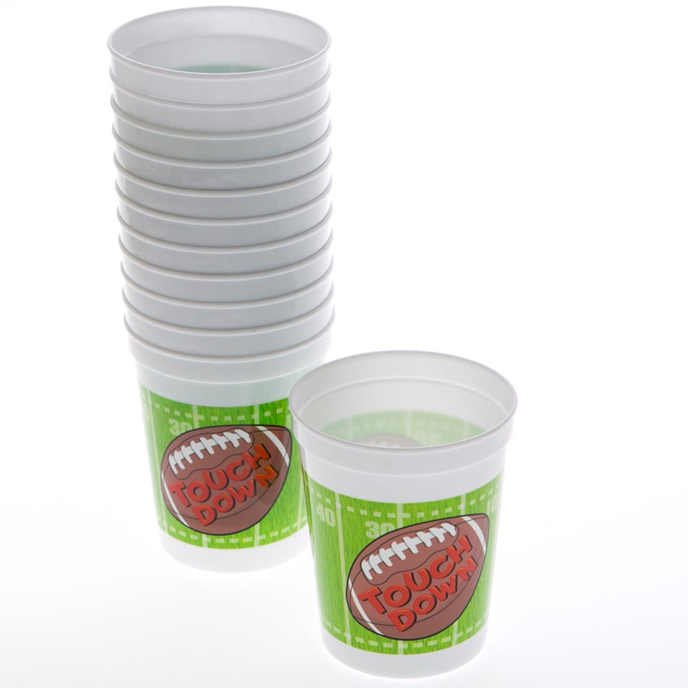 Football 12 oz. Plastic Cups 163-1560