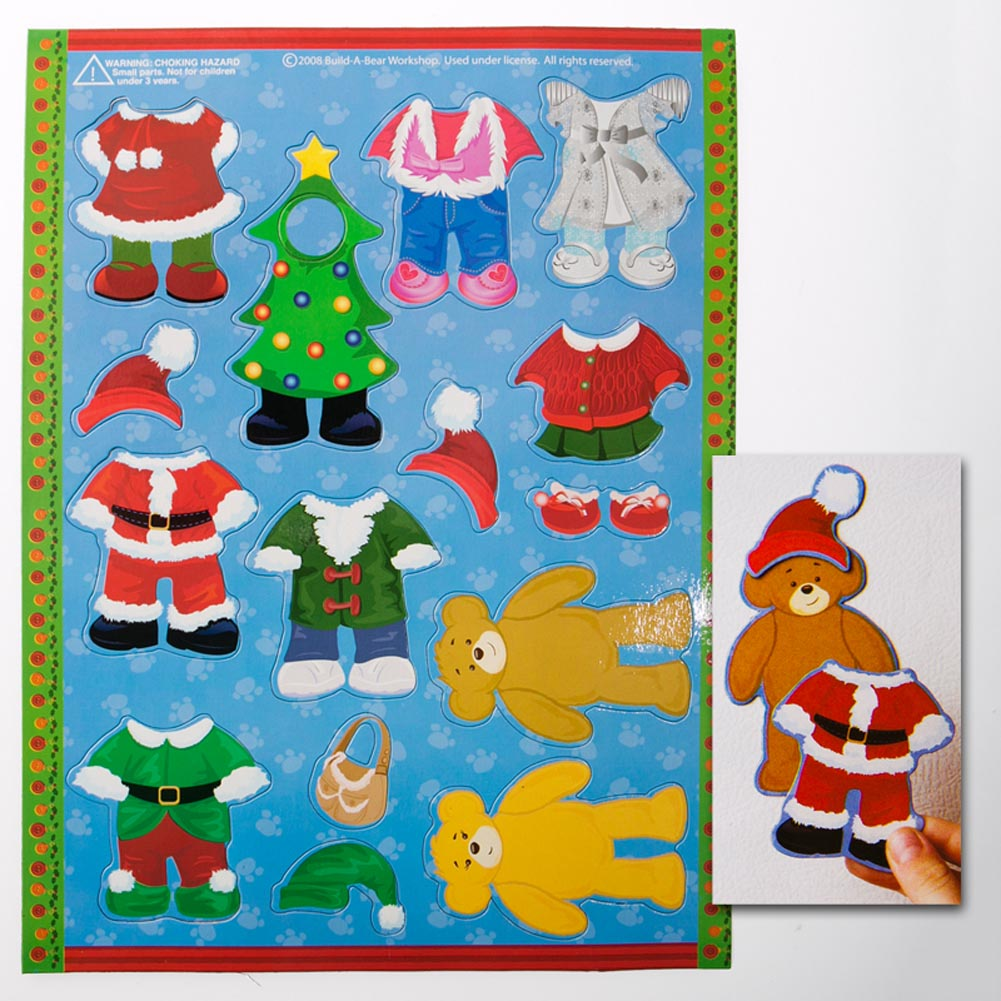Build-A-Bear Christmas Dress-Up Magnets 163-1582
