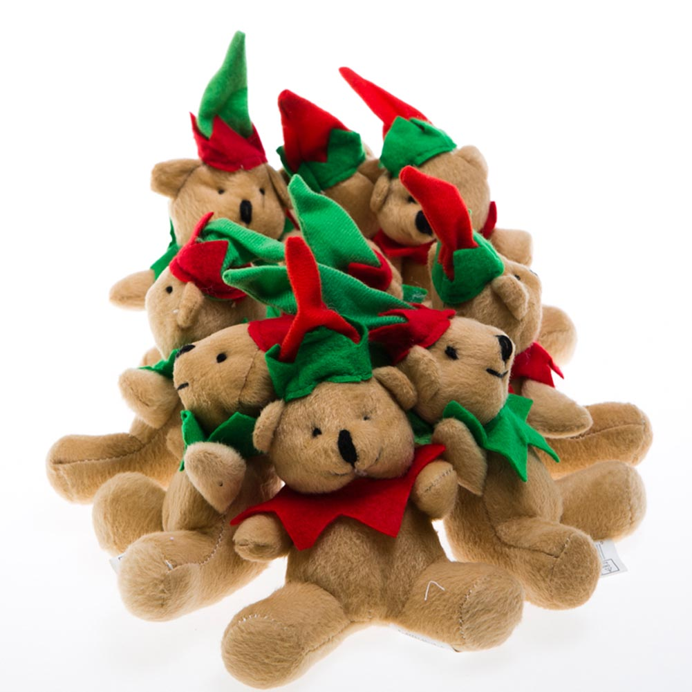 Plush Holiday Elf Bear 163-1629