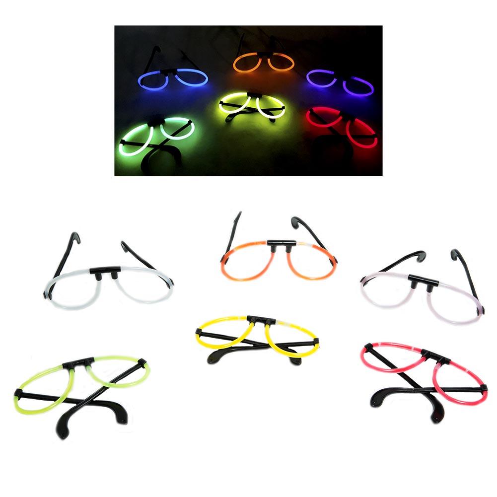 Assorted Glow Eye Glasses 163-1822