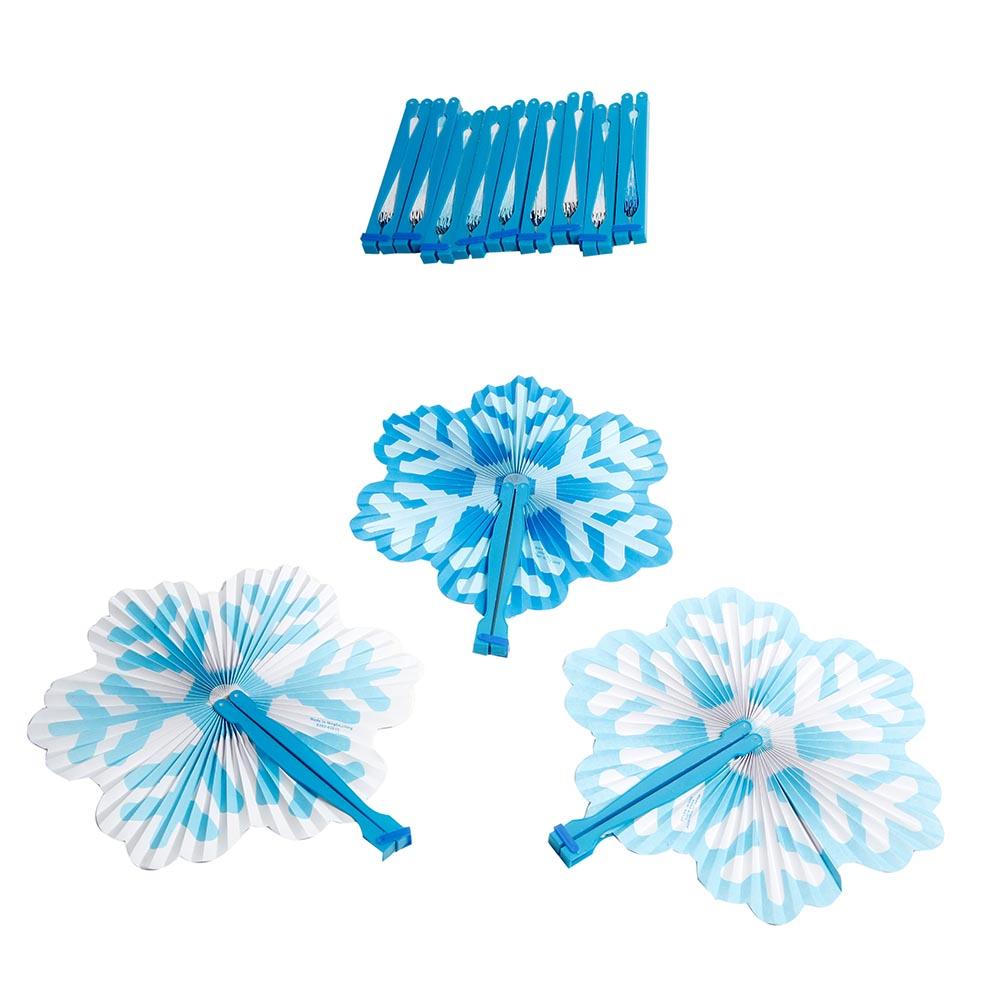 Snowflake Folding Fans