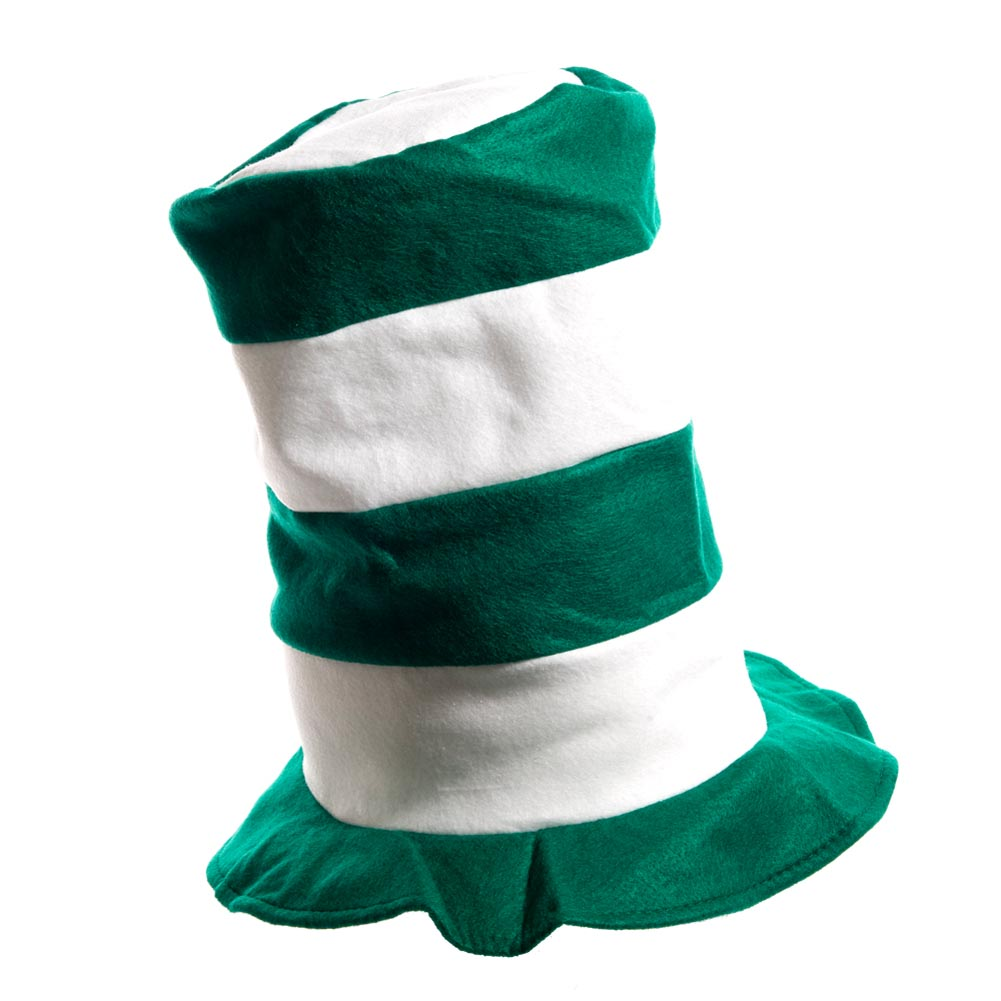 Green And White Stovepipe Hat 163-834
