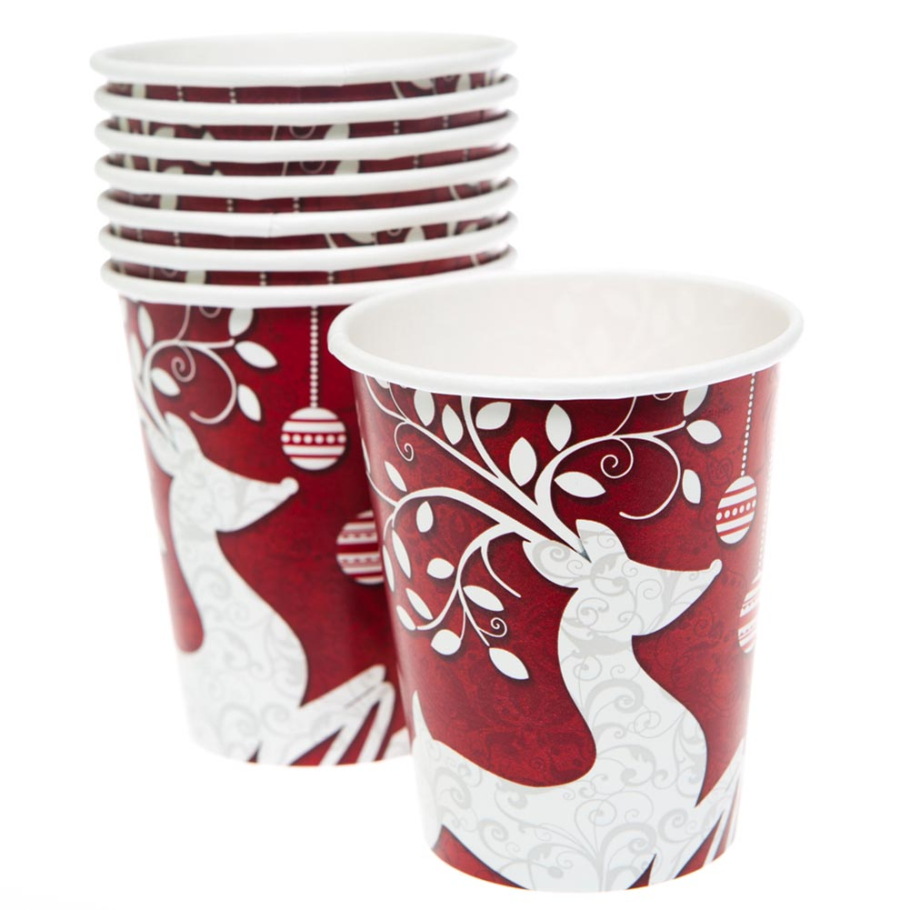Frosted Holiday 9 oz. Cups 203-1012