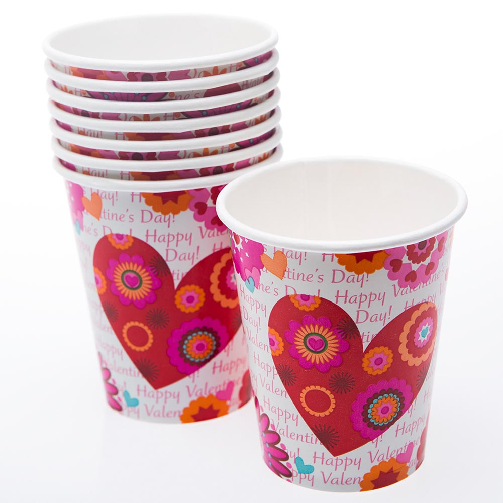 Hearts In Bloom 9 oz. Cups 203-1030