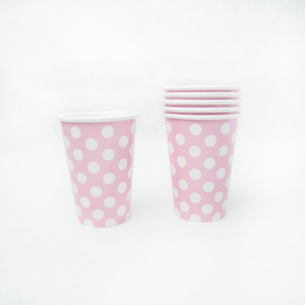 Pastel Pink Polka Dot 12 oz. Cups 203-1129