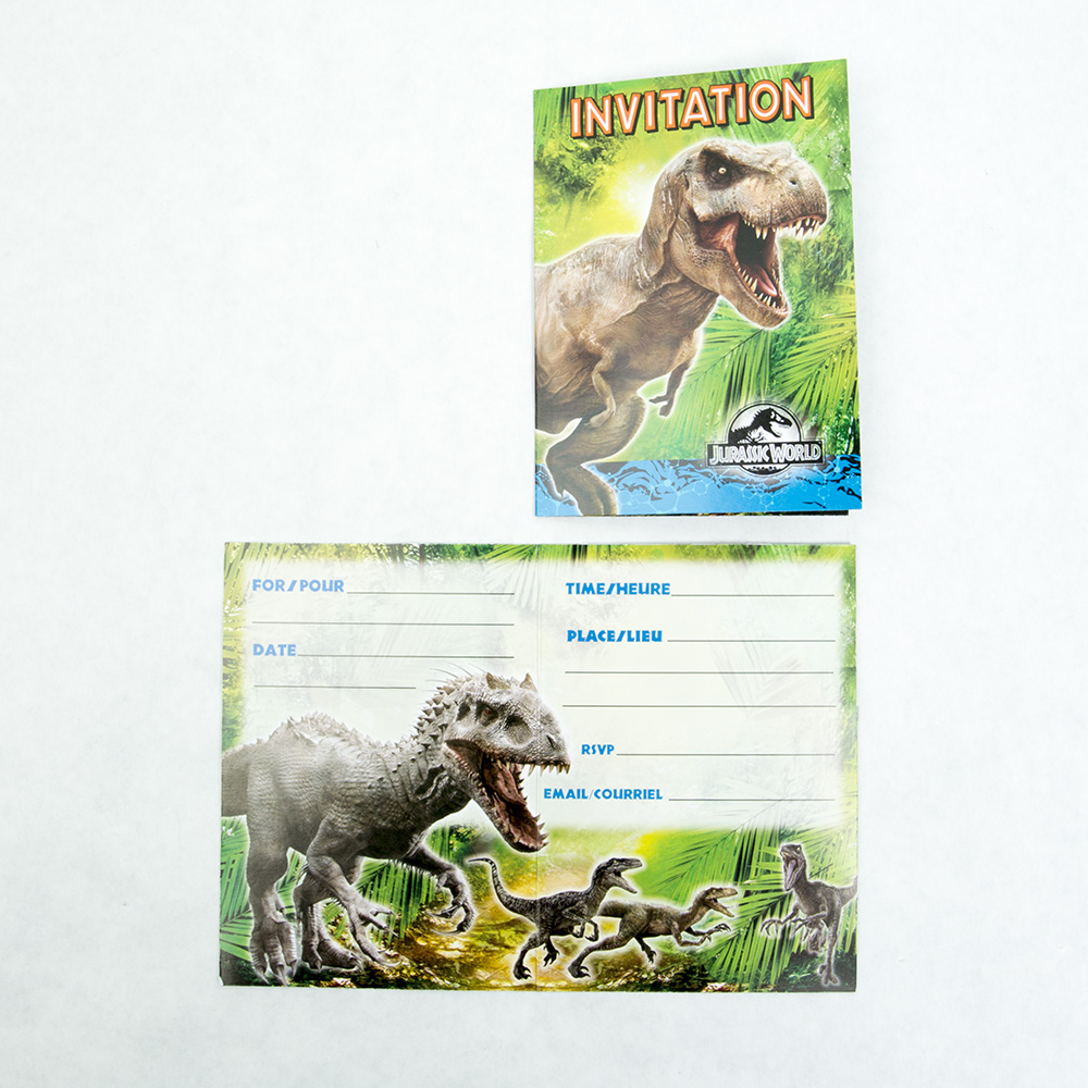 Jurassic World Invitations 203-1167
