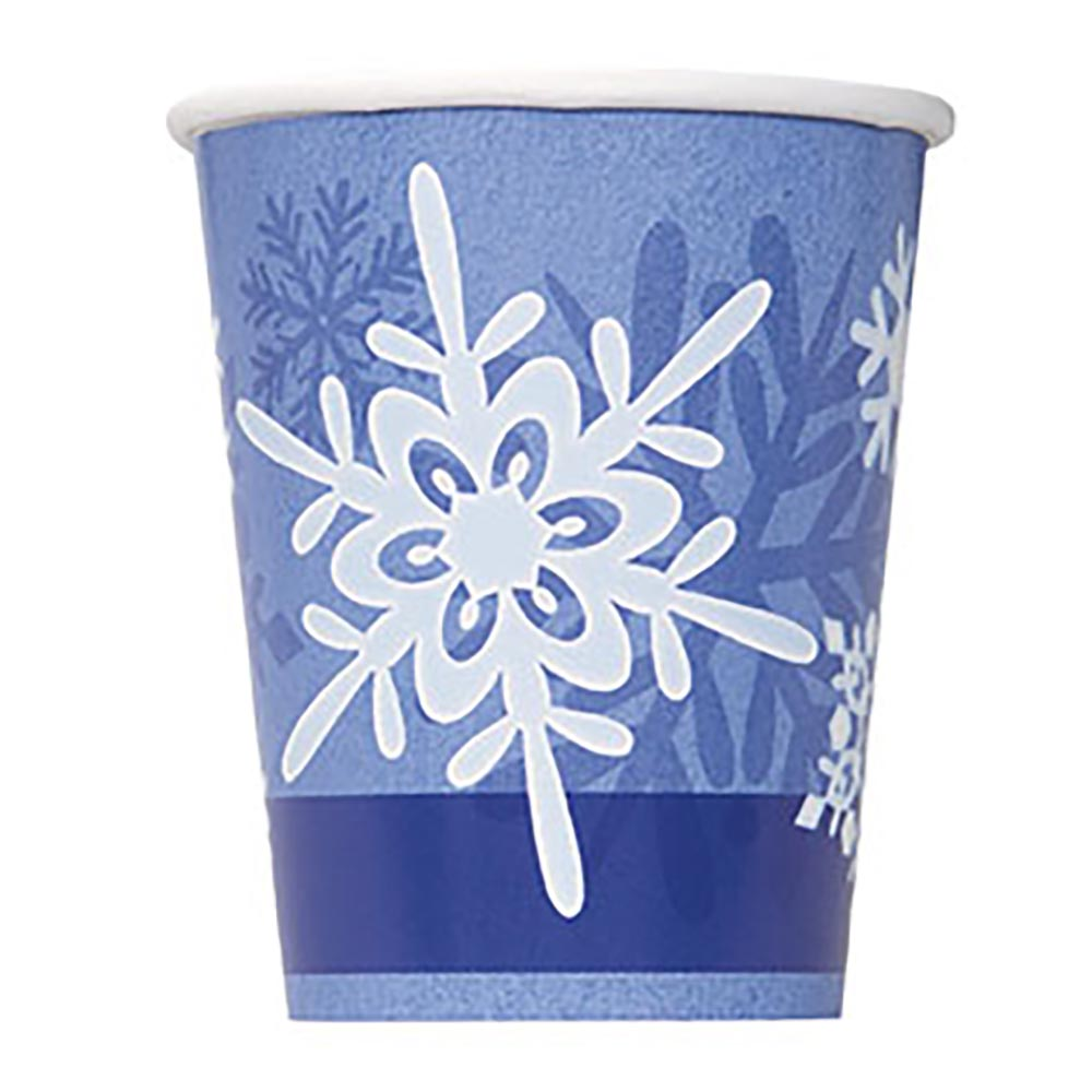 Winter Snowflake 9 Oz. Cups 203-1190