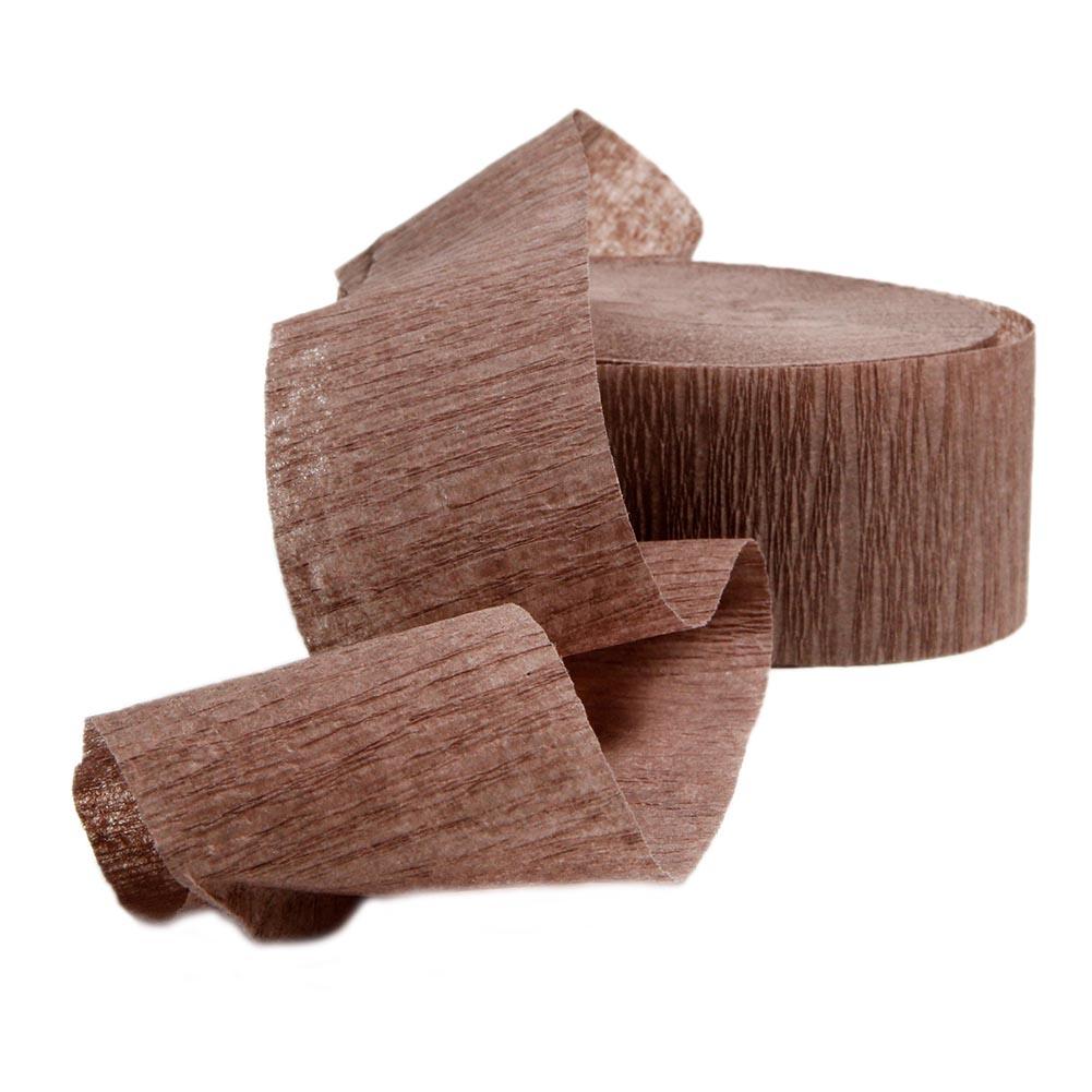 Brown Crepe Streamers 203-1247