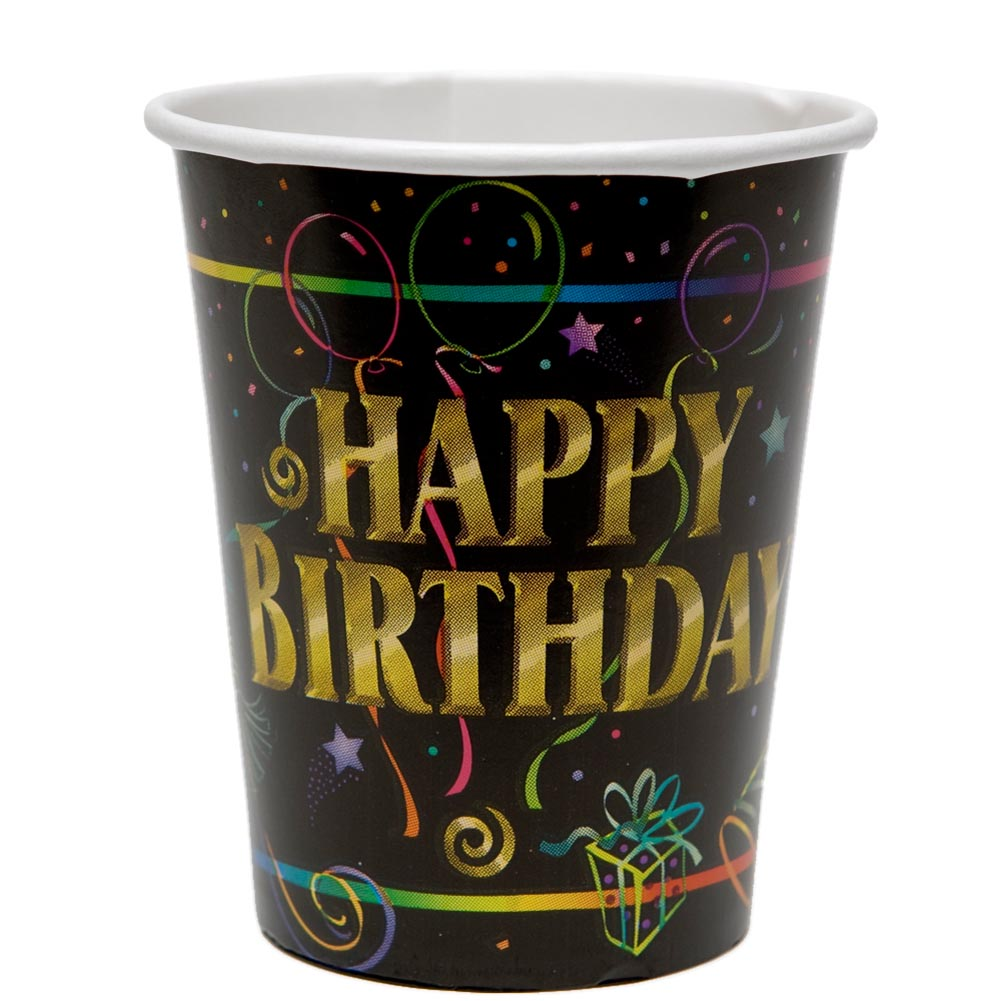 Happy Birthday 9 oz. Cups 203-405