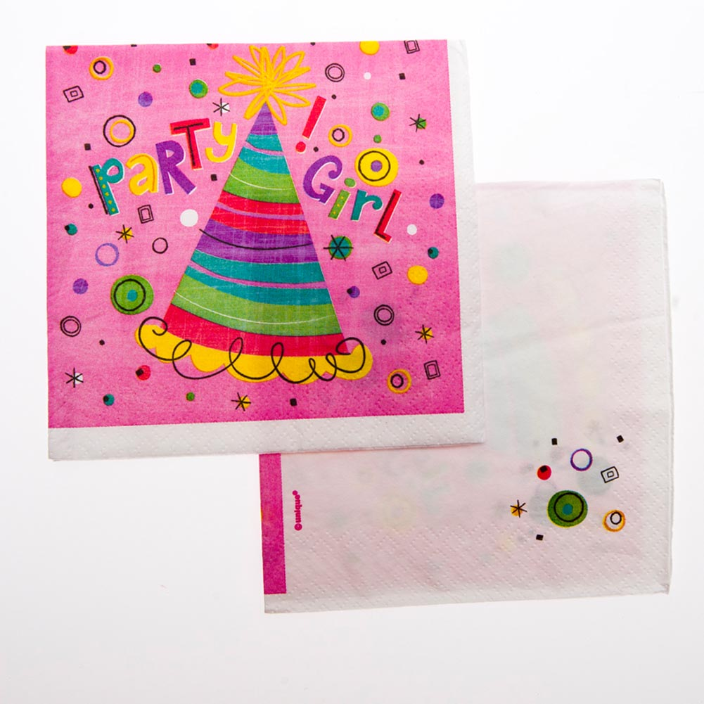 Party Girl Beverage Napkins