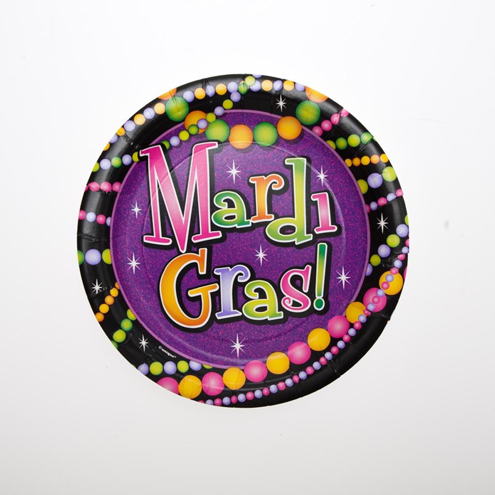 "Mardi Gras Bead 7"""" Plates"" 203-516"