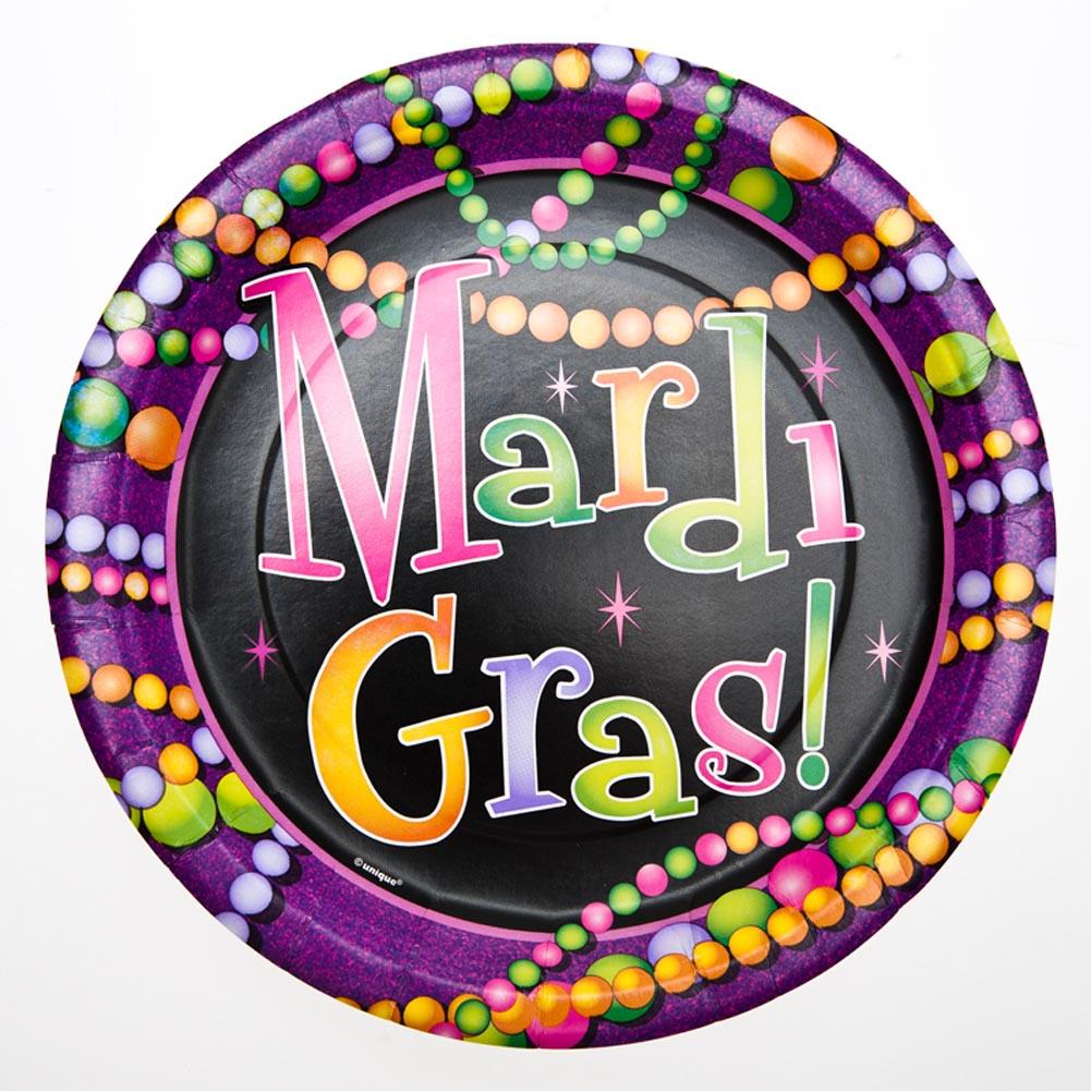 "Mardi Gras Bead 9"""" Plates"" 203-517"