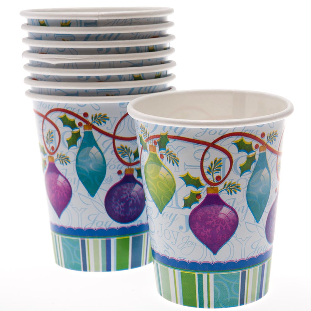 Holiday Ornaments 9 oz. Cups 203-680
