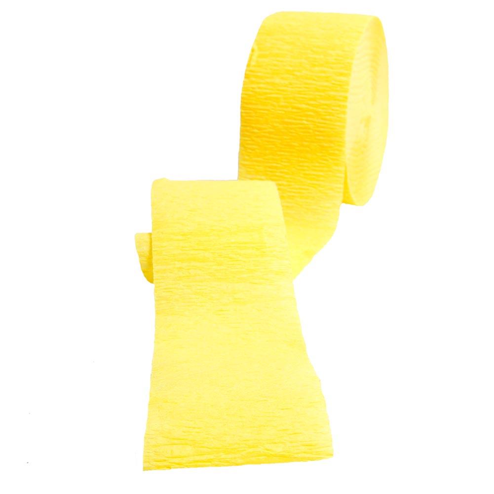 Yellow Crepe Streamer 203-698