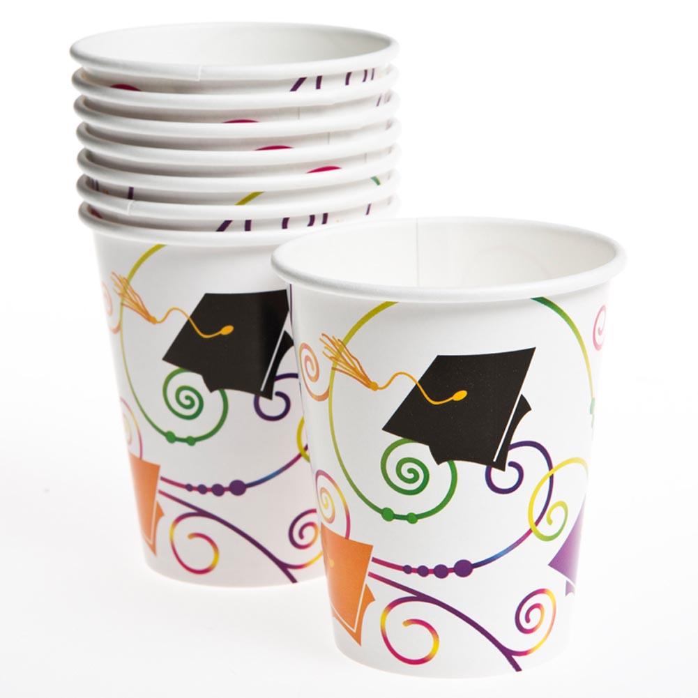 Graduation Scroll 9 oz. Cups 203-756
