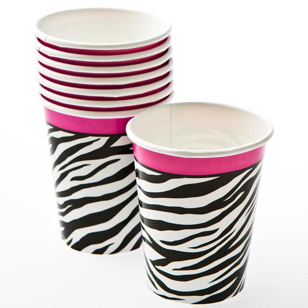 Zebra Passion 9 oz. Cups 203-859