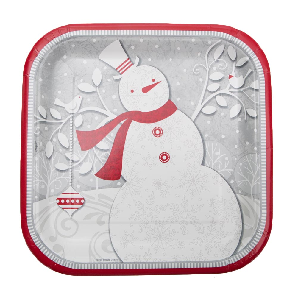 "Frosted Holiday 9"""" Plates"" 203-965"