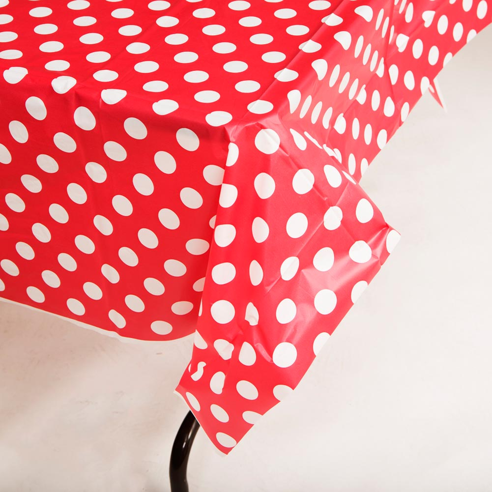 Red Polka Dot Tablecover 203-975